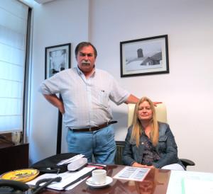 La Farm. María Rosa Deganis junto al Vicepresidente de Cafar, Farm. Alejandro Puricelli